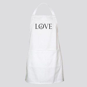 Love Peace Sign Apron