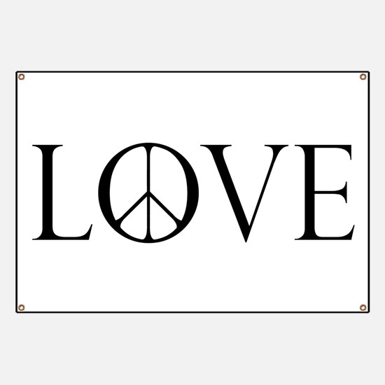Love Peace Sign Banner