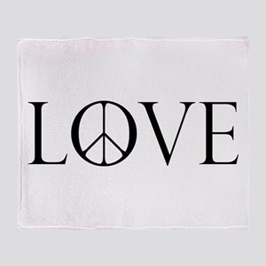 Love Peace Sign Throw Blanket