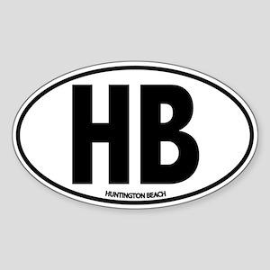 H.B. - Huntington Beach Sticker (Oval)