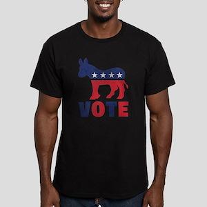 Democrat Vote 2 Men's Fitted T-Shirt (dark)