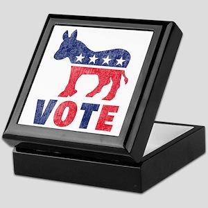 Democrat Vote 2 Keepsake Box