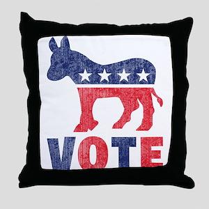 Democrat Vote 2 Throw Pillow