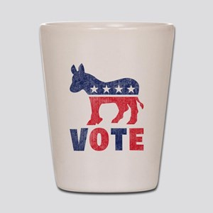 Democrat Vote 2 Shot Glass