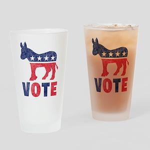 Democrat Vote 2 Drinking Glass
