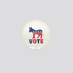 Democrat Vote 2 Mini Button