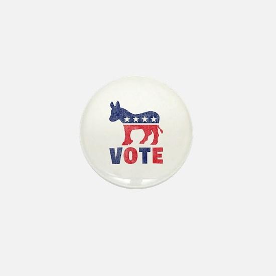 Democrat Vote 2 Mini Button