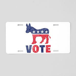Democrat Vote 2 Aluminum License Plate