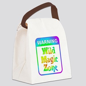 Warning - Wild Magic Zone Canvas Lunch Bag