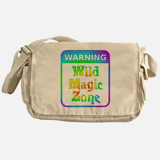 Warning - Wild Magic Zone Messenger Bag