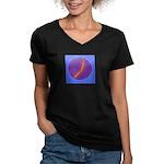 centipede Women's V-Neck Dark T-Shirt