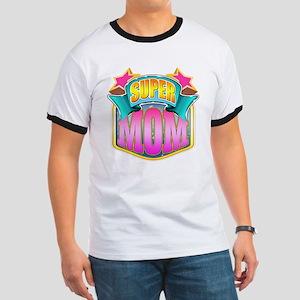 Pink Super Mom Ringer T