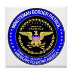 Illegal Immigration Minuteman Tile Coaster