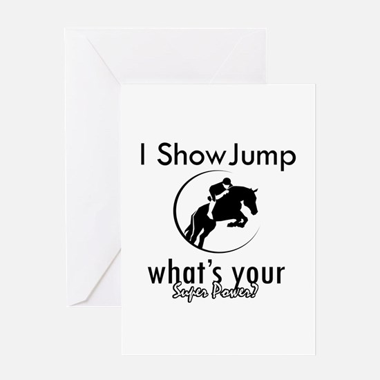 I Show Jump Greeting Card