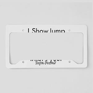 I Show Jump License Plate Holder