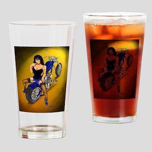 La Belleza Latina Pin-up Drinking Glass