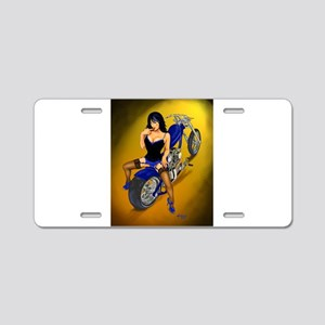 La Belleza Latina Pin-up Aluminum License Plate