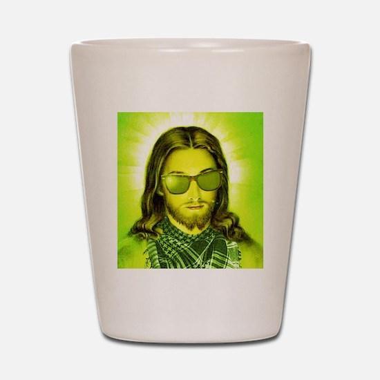 Hipster Jesus Christ Shot Glass