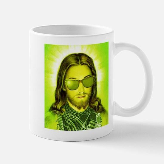 Hipster Jesus Christ Mug
