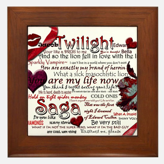 Twilight Quotes Framed Tile