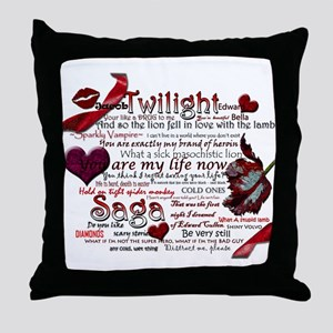 Twilight Quotes Throw Pillow