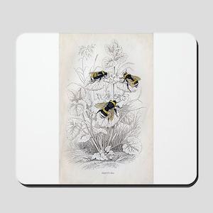 Vintage Bumble Bees Mousepad