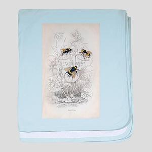 Vintage Bumble Bees baby blanket