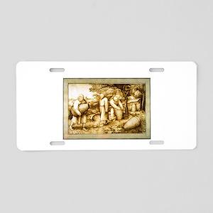 Medieval Beekeepers Aluminum License Plate