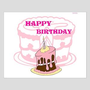 OYOOS Birthday Cake design Small Poster