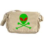Alien Skull and Bones Messenger Bag