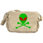 Alien Skull and Bones Messenger Bag