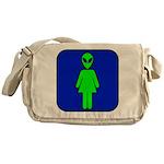 Alien Woman Messenger Bag