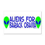 Aliens For Barack Obama Car Magnet 20 x 12