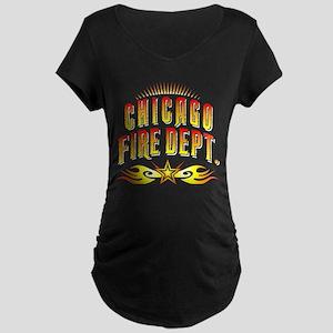 Chicago Fire Department Maternity Dark T-Shirt