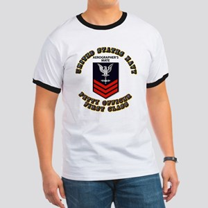 US Navy - Rank - AG - PO1 with Text Ringer T