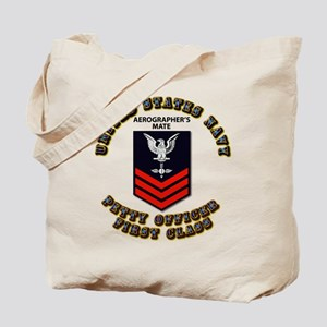 US Navy - Rank - AG - PO1 with Text Tote Bag