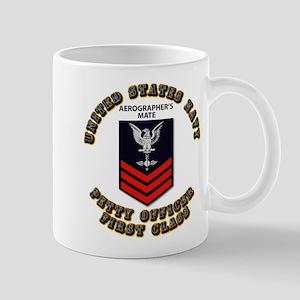 US Navy - Rank - AG - PO1 with Text Mug