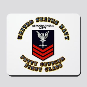 US Navy - Rank - AG - PO1 with Text Mousepad