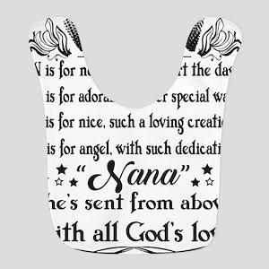 Nana T Shirt, God's Love T Polyester Baby Bib