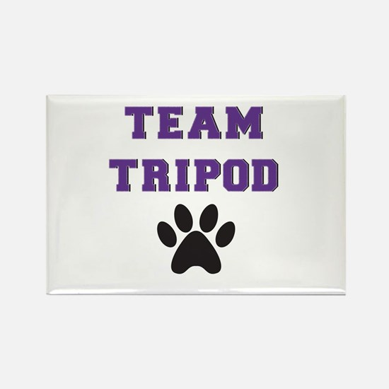 Team Tripod With Single Paw Print Magnets