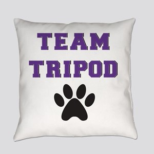 Team Tripod With Single Paw Print Everyday Pillow
