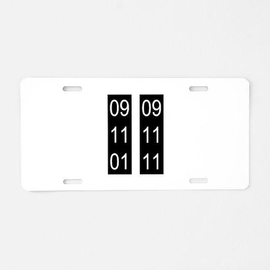 9/11 tenth Aluminum License Plate