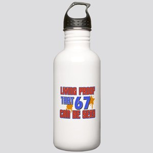 Cool 67 year old birthday design Stainless Water B