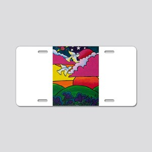 Night and Day Aluminum License Plate