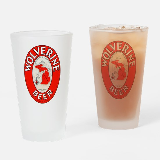 Michigan Beer Label 1 Drinking Glass