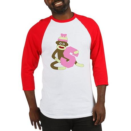 Sock Monkey Monogram Girl S Baseball Jersey
