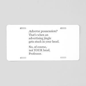 Adverse Possession Aluminum License Plate