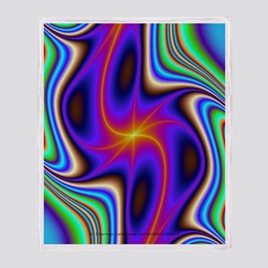 Fractal Pulsar- Throw Blanket