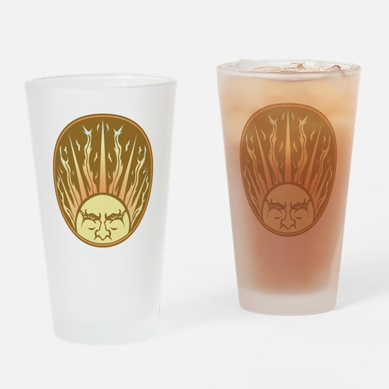 Flaming Sun Drinking Glass