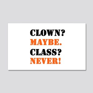 Clown? 4 22x14 Wall Peel